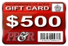 PP&R GIFT CARD : $500