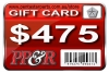 PP&R GIFT CARD : $475