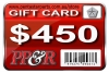 PP&R GIFT CARD : $450