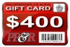 PP&R GIFT CARD : $400