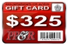 PP&R GIFT CARD : $325