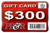 PP&R GIFT CARD : $300
