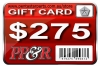 PP&R GIFT CARD : $275