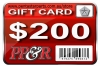 PP&R GIFT CARD : $200