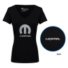 Ladies Mopar V-neck Foil T-Shirt